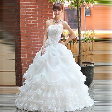 DIDIDD Novia Vestido de Novia de Lujo Qi Di Diamante Vestido ...