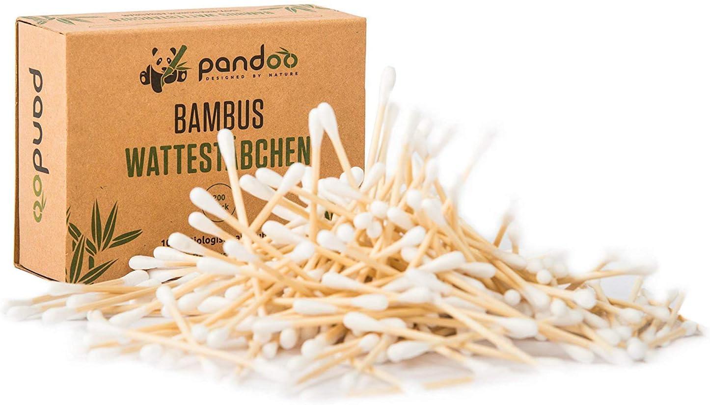 pandoo Hisopos de Algodón y Bambú Biodegradables de Cultivo ...