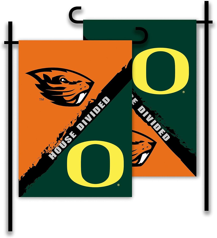 NCAA 2-Sided Garden Flag - Rivalry House Divided