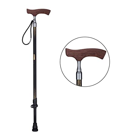 Walking Cane for Men and Women Easy Adjustable Elder Stick with Soft Handle and Stable Holder Quick Extension Trekking Pole