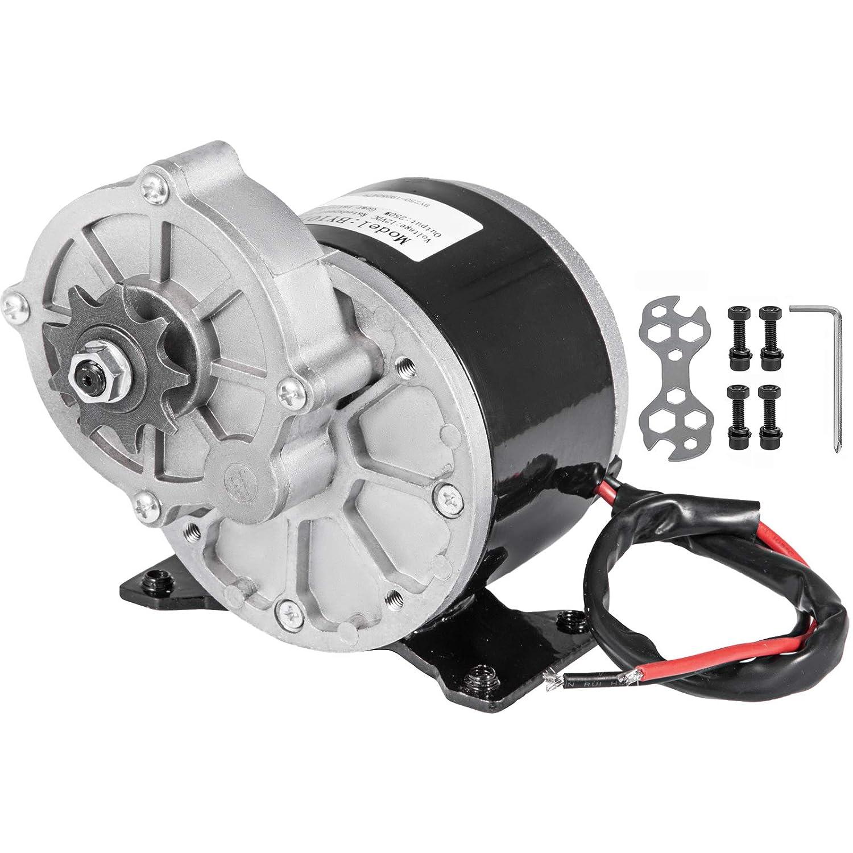 Mophorn Motor Eléctrico de Corriente Continua 12V 250W de Reducción de Engranajes con 9 Ruedas Dentadas Velocidad Nominal 2700RPM