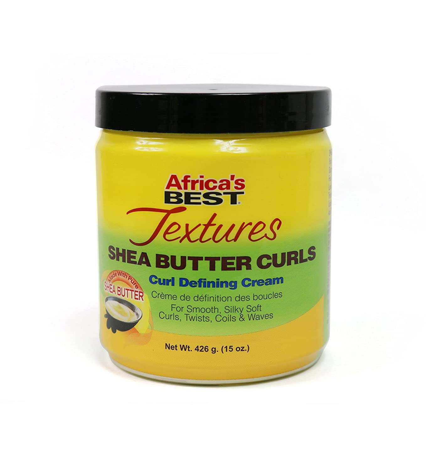 Africa's Best Textures Shea Butter Hair Curl Defining Crème, Reduces Frizzing, Seals and Repairs Hairs Split Ends, 15 Ounce Jar Atlas Ethnic