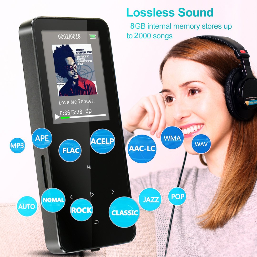 amazon com mp3 player hontaseng portable metal touch button rh amazon com Slick MP3 Player Driver Slick MP3 Player Charger