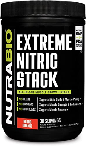 NutraBio Extreme Nitric Stack Blood Orange – Nitric Oxide and Cell Volumizing Formula