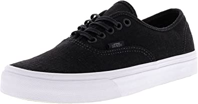 fec9b2064f Vans Men s Authentic Skateboarding Shoe (Hemp Linen) Black True White (8  Women