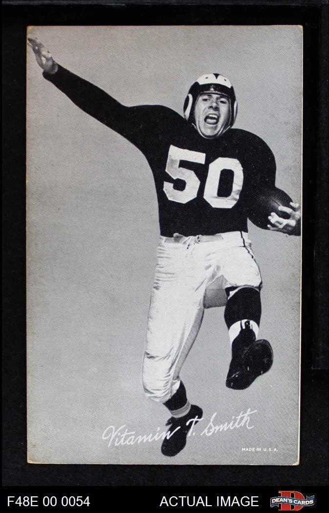 1948 Exhibits Black und White Vitamin Smith Los Angeles Rams (Football Card) Dean'S Cards 4 - Vg/Ex Rams