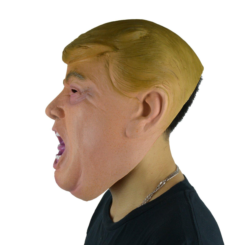 larpgears Donald Trump TV Presenter Billionaire Tycoon Cara Máscara de látex para fiesta: Amazon.es: Hogar