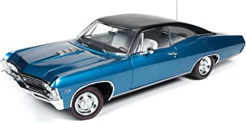 1967 Chevrolet Impala Ss 427 Marina Blue With Black Vynyl Roof Limited Edition To 1002pcs 1 18 By Autoworld Amm1083 By Chevrolet Amazon De Spielzeug