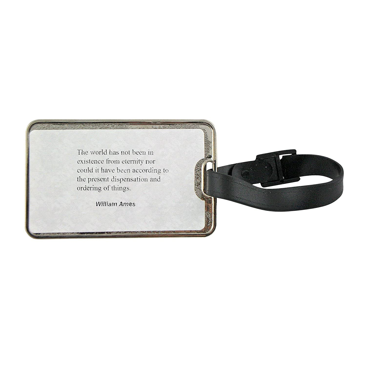 85%OFF Metal luggage tag with The world has not been in existence from  eternity d94edf4eb9