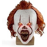 Queenser Máscara de Halloween Assustador Palhaço Assustador de Pennywise Face Cheia Fantasia de Terror Festa Festival…