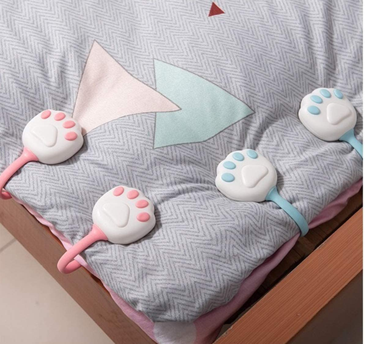 Portable Grippers Clip Clamp Bed Duvet Quilt Covers Sheet Holder Non slip Set