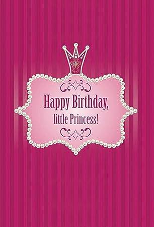 Joyeux Anniversaire Little Princess Photo Dos Drop Filles Bébé