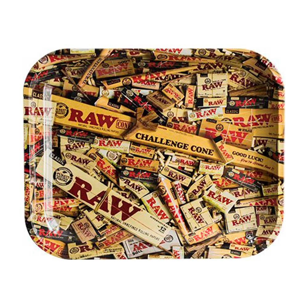 RAW Mixed Items Metal Rolling Tray (Small 11''x7'')
