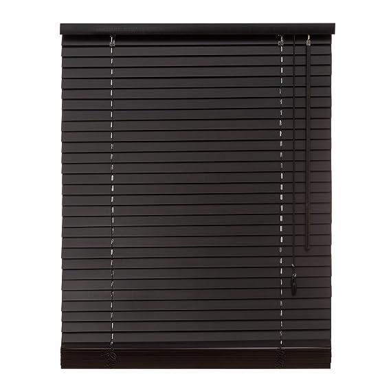 Persiana de madera auténtica, de 35 mm, de color marrón oscuro, incluye el juego de montaje; disponible en diversos tamaños: 40 / 50 / 60 / 70 / 80 / 90 ...