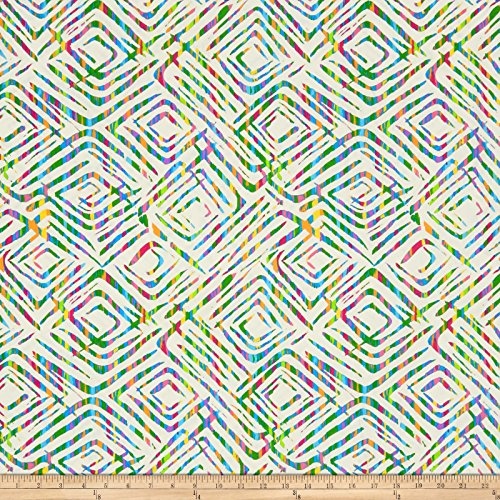 Blank Quilting Prismatic 108in Wide Back Diamondesque White/Multi Fabric The Yard