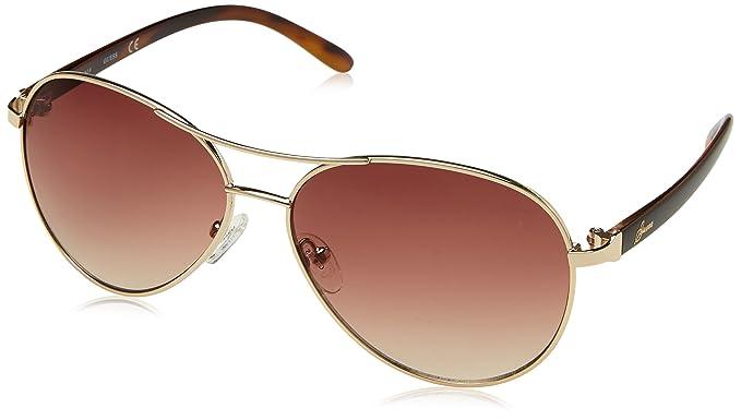 Guess Guf235, Gafas de Sol para Mujer, Dorado, 61