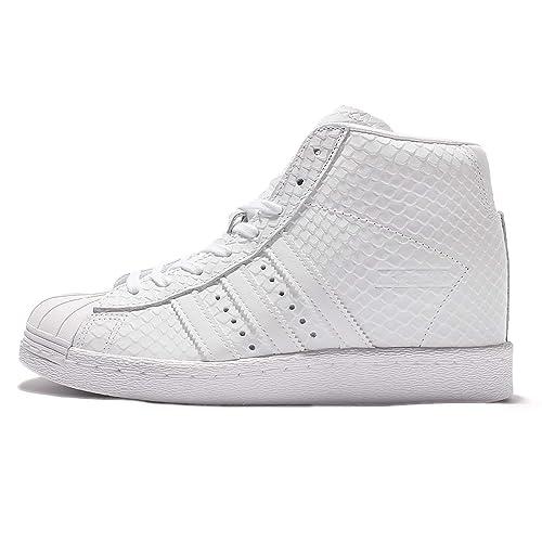 buy popular 6ff27 b25b9 adidas Originals S76405 - Zapatillas de Piel para Mujer Blanco Weiß, Color  Blanco, Talla 42 EU Amazon.es Zapatos y complementos