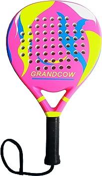 GRANDCOW Pala de pádel de Tenis de Fibra de Carbono Pro ...