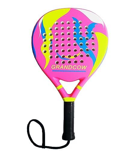 GRANDCOW Pala de pádel de Tenis de Fibra de Carbono Pro Power Lite ...