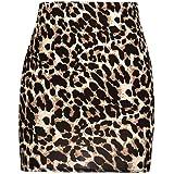 Damen Leopard Gedruckt Rock, Quaan Hoch Taille Sexy Bleistift Bodycon Hüfte Mini Beiläufig Retro Party Abschlussball Swing Abendessen Kleid Klassisch Kleid
