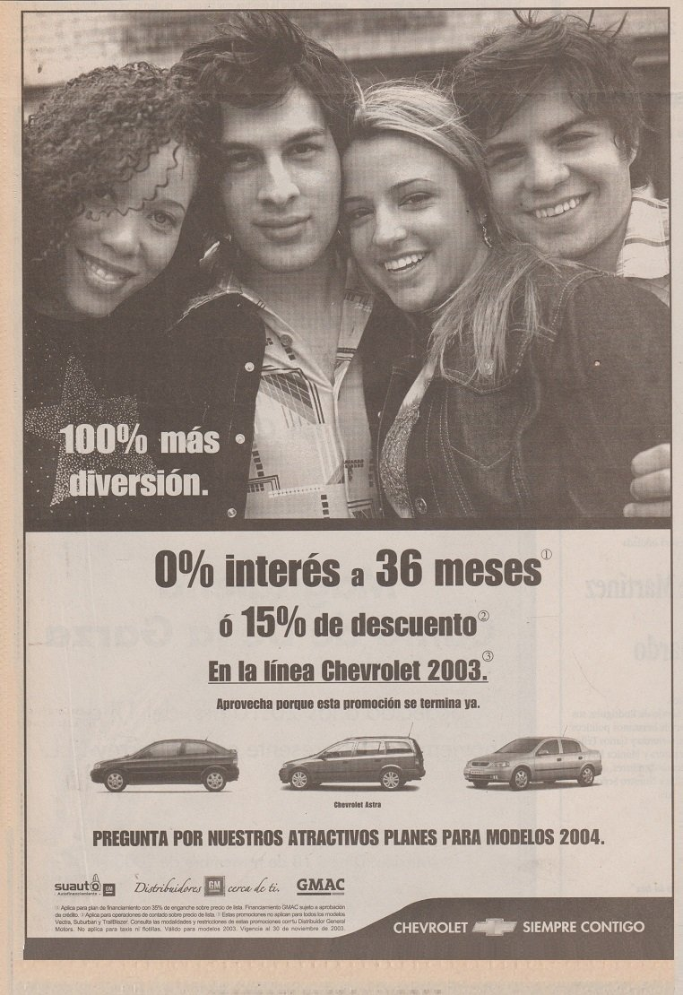 Amazon.com : 2003 CHEVROLET VECTRA, ASTRA & CHEVY LOT of 3 LARGE VINTAGE NEWSPAPER NON-COLOR AD ADS - MEXICO - NICE!! : Everything Else