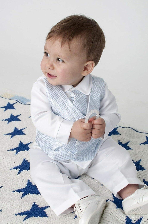Baby Jungen Taufanzug 4tlg blau Babyanzug V.C
