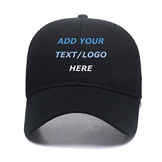 817ebd54194 Image Unavailable. Image not available for. Color  Custom Hats Add Your  Text Logo ...
