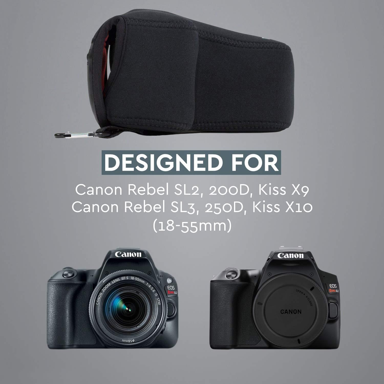 MegaGear MG1195 para Canon EOS 200D, 800D, 77D, 9000D (18-55mm ...
