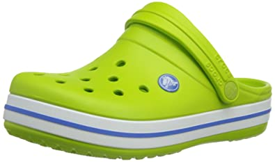 638918a33e crocs 10998 Crocband K Clog (Toddler/Little Kid),Volt Green/Varsity