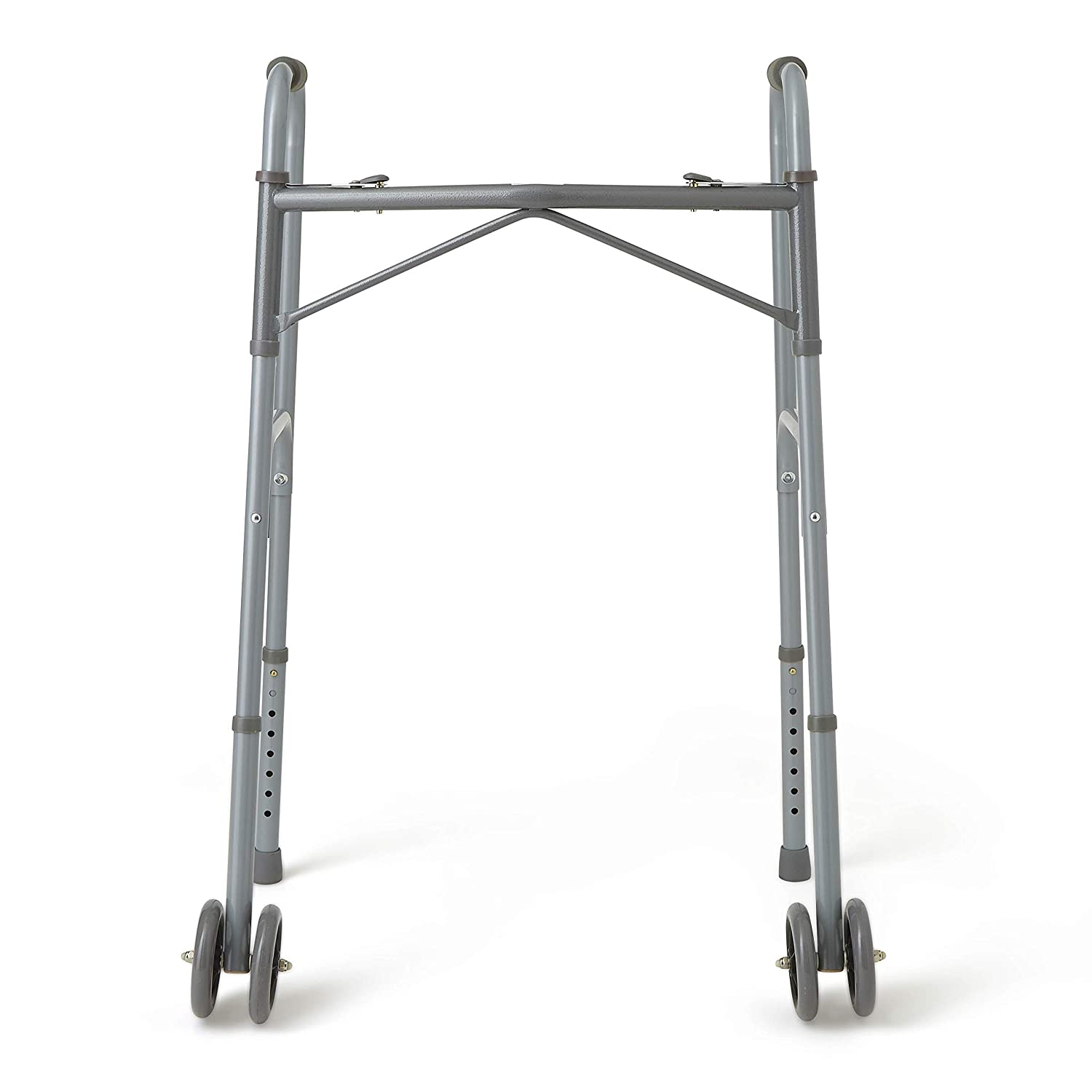 Amazon.com: Medline Bariatric – Andador plegable con ruedas ...