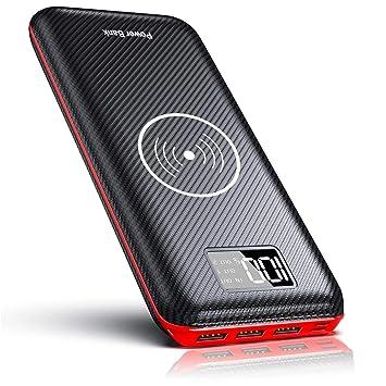 KEDRON Power Bank 24000mAh con 2 Entrada y 3 Salida USB, Cargador Móvil Portátil Batería Externa para Smartphones, Tablets y más (inalámbrico Power ...