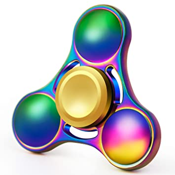 Fidget Spinner Rainbow Hand Focus Toy Anti Anxiety Depression Ultra Durable High Speed