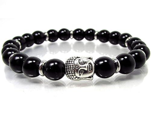 Buddha Herren Armband Koralle Achat Onyx Hämatit Geschenk für Mann