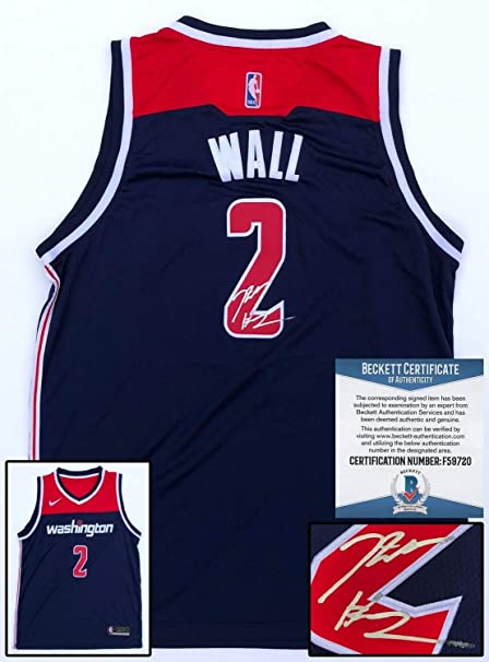 sports shoes f3a50 6de74 Washington Wizards John Wall Autographed Signed Jersey ...