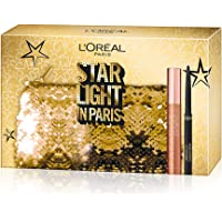 L'Oréal Paris Cofanetto Idea Regalo Natale, Mascara Volumizzante Paradise e Eyeliner Nero Super Mat-Matic, Pochette 2 Pezzi Star Light in Paris