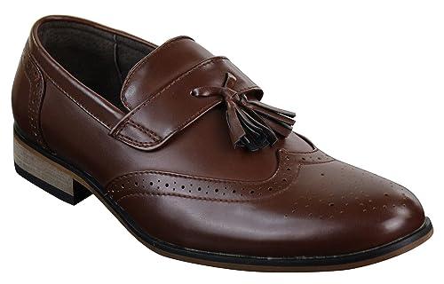 Mocassins Chaussures Homme Cuir et Cuir PU avec Pampilles Style Classique  rétro Vintage Noir Marron  Amazon.fr  Chaussures et Sacs ac014e2cada3
