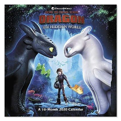 Train Calendar 2020 Amazon.: 2020 How to Train Your Dragon 3 Wall Calendar