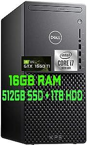 2021 Flagship Dell XPS 8940 Gaming Tower Desktop Computer 10th Gen Intel Octa-Core i7-10700 16GB RAM 512GB SSD + 1TB HDD Geforce GTX 1660Ti DisplayPort Wifi6 Bluetooth DVD-RW Win10 + iCarp HDMI Cable