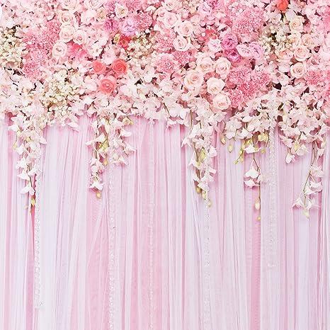 Konpon 250 X 250 Cm Senza Cuciture Rosa Fiori Sfondo Fondale