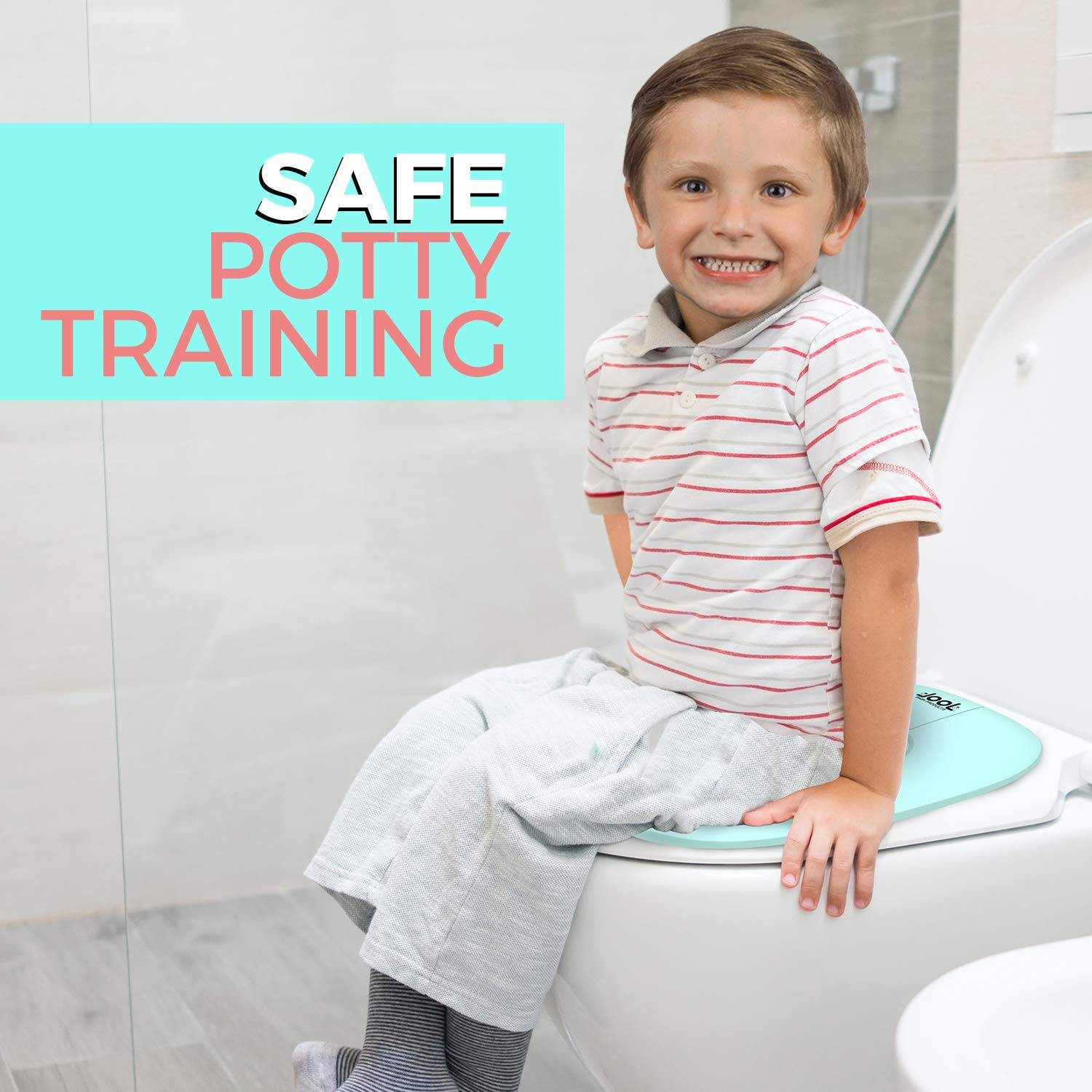 Includes Free Travel Bag Non-Slip Suction Cups Folding Travel Potty Seat for Boys and Girls Jool Baby Fits Round /& Oval Toilets