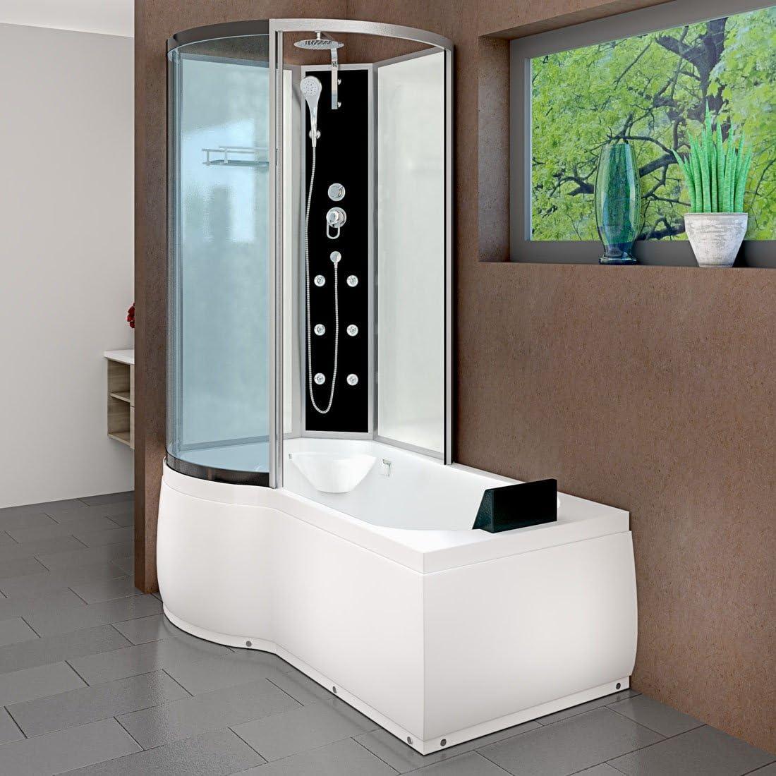 AcquaVapore DTP8050-A000R - Bañera con cabina de ducha, 98 x 170: Amazon.es: Bricolaje y herramientas