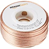 AmazonBasics 100ft 16-Gauge Audio Stereo Speaker Wire Cable - 100 Feet