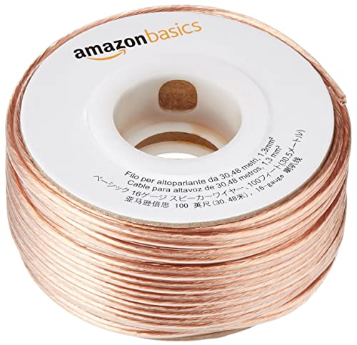 AmazonBasics 16-Gauge Speaker Wire 1.3 mm² - 30.4 m (100 feet)
