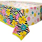 Plastic Wild Luau Tablecloth, 7ft x 4.5ft