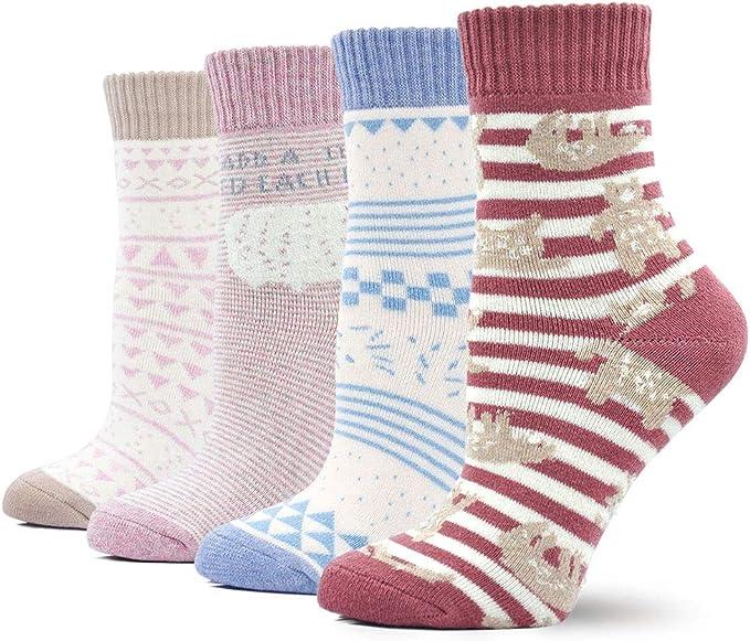 LOFIR Calcetines Térmico de Algodón para Mujer Invierno Calcetines ...