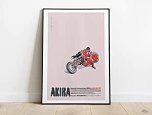 Akira Anime Poster, Akira Movie, Akira 1988, Katsuhiro Otomo, Neo Tokyo, Kaneda, Yamagata, Cyberpunk Poster (Red, 9x11 inches)