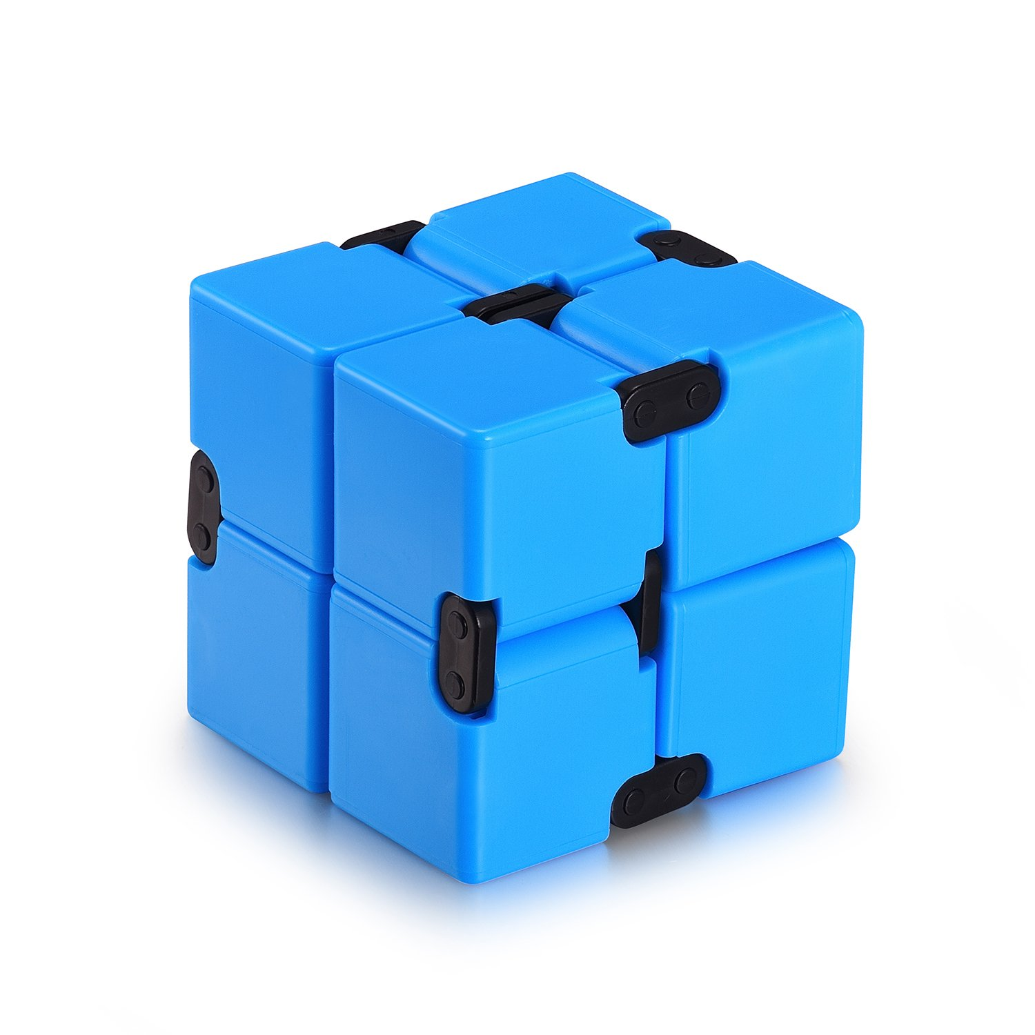 Infinity Cube Fidget Cube Toy for Adults & Kids Relieve Stress & Anxiety Hand Fidget Stress Reducer Best for ADD,ADHD,OCD,Anxiety Disorder,Autism by Ganowo (Blue)
