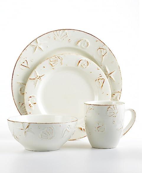 Thomson Pottery Dinnerware H&ton 16 Piece Set White  sc 1 st  Amazon.com & Amazon.com | Thomson Pottery Dinnerware Hampton 16 Piece Set ...
