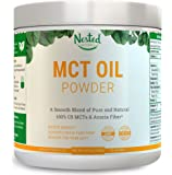 100% C8 MCT OIL POWDER 454g | ZERO Net Carb (Keto Diet Friendly) Medium Chain Triglycerides + Prebiotic Acacia Fiber for Energy Boost, Appetite Control & Gut Health | Mix in Coffee or Smoothie | 16 oz