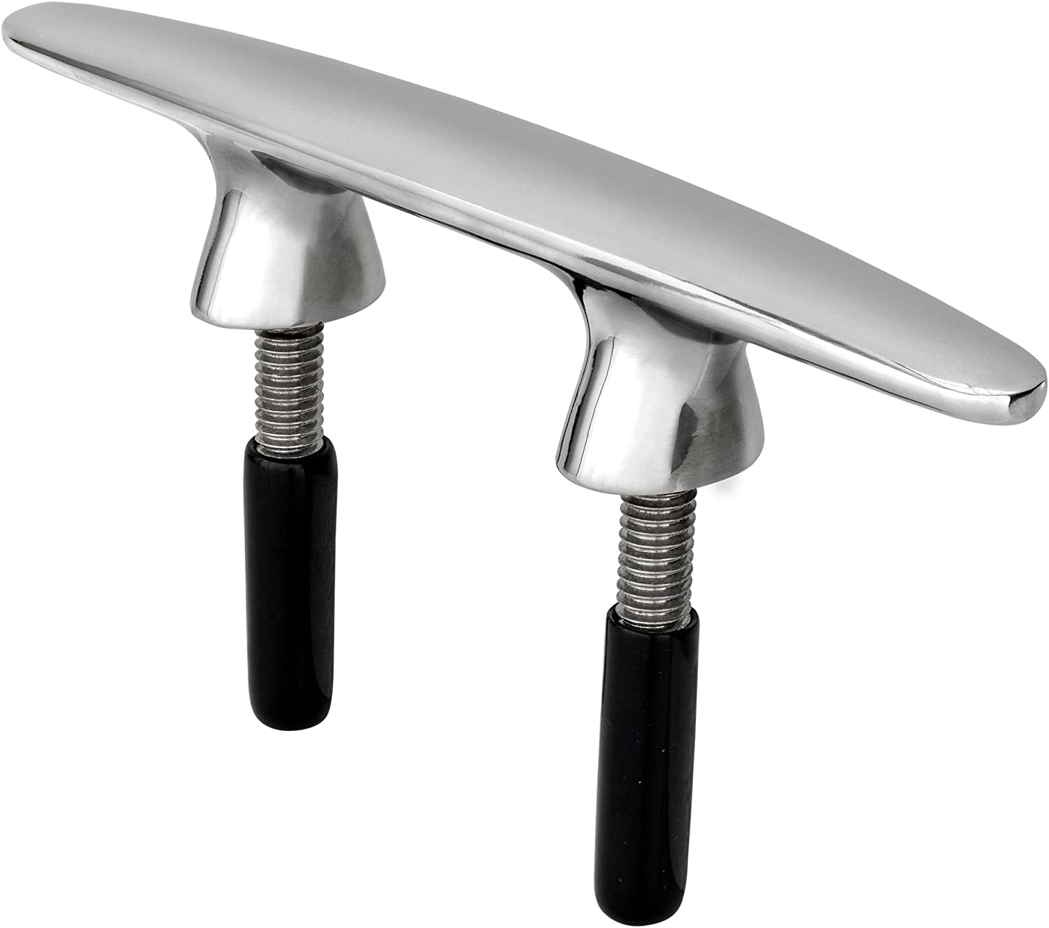 """RecPro Stainless Steel 6"""" Dock Cleat   Marine Hardware   Boat Cleat   with Studs"""
